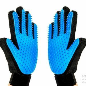 2x Pet Grooming Glove Brush Dog